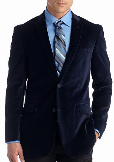 madison big tall deep blue velvet sport coat belk. Black Bedroom Furniture Sets. Home Design Ideas