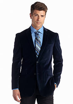 Madison Slim Fit Deep Blue Velvet Sport Coat