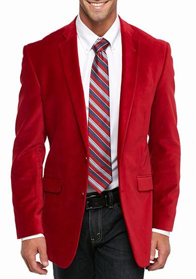madison big tall red velvet sport coat belk. Black Bedroom Furniture Sets. Home Design Ideas