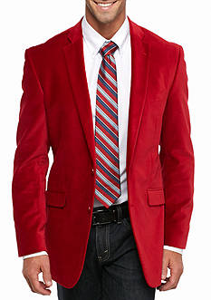 Madison Big & Tall Red Velvet Sport Coat
