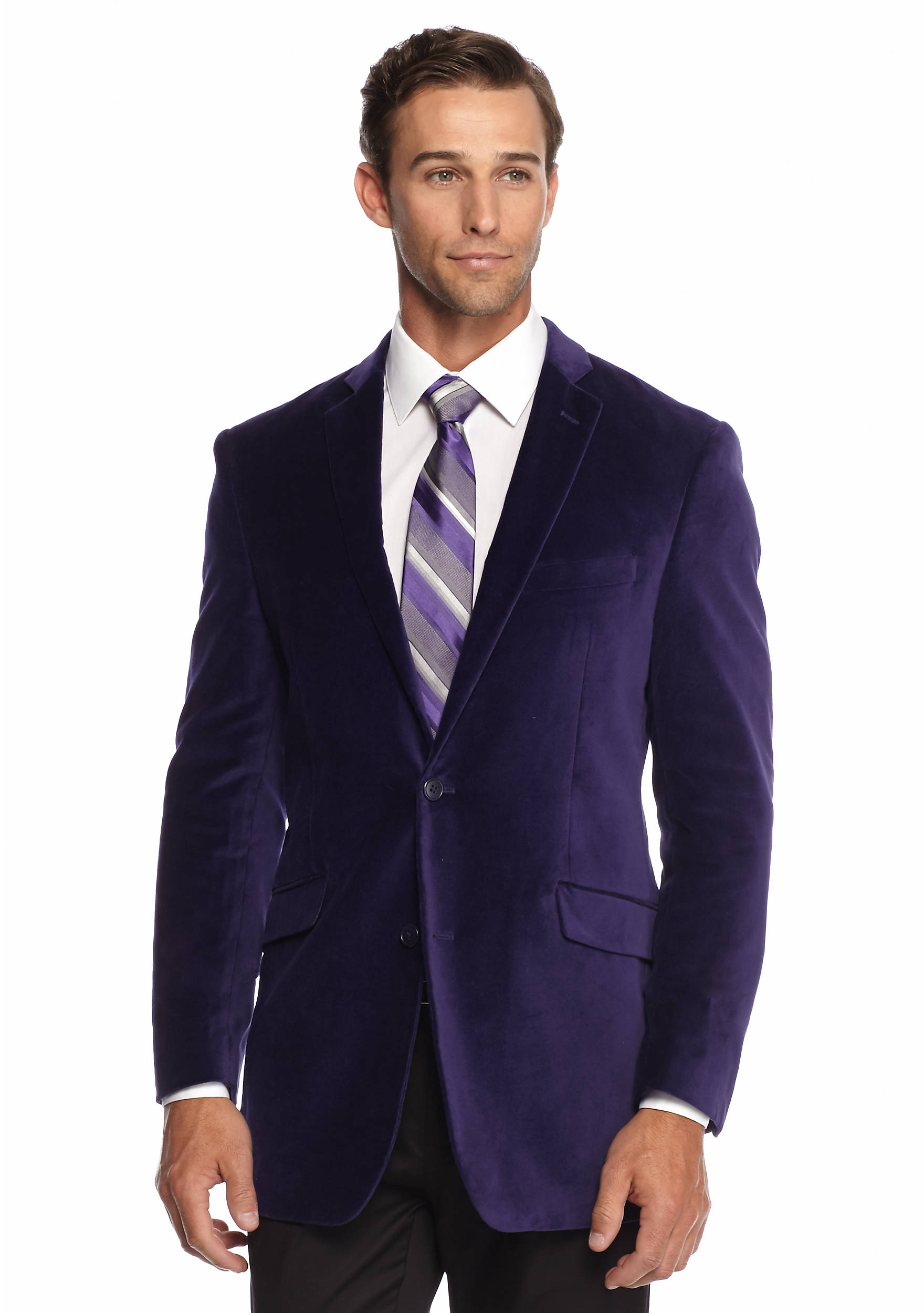 Madison Slim Fit Purple Velvet Sport Coat | belk