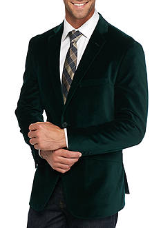 Madison Slim-Fit Green Velvet Sport Coat