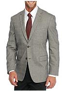 Madison Slim-Fit Black and White Plaid Sport Coat