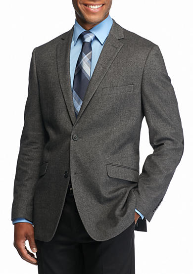 Madison Gray Crosshatch Sport Coat with Elbow Patch
