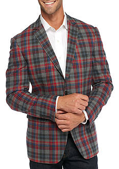 Madison Slim-Fit Red Plaid Sport Coat
