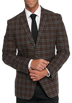 Madison Slim-Fit Brown Plaid Sport Coat