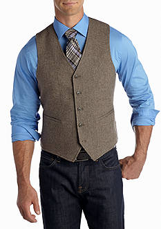 Madison Brown Herringbone Vest