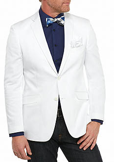 Madison Big & Tall White Solid Motion Stretch Sport Coat