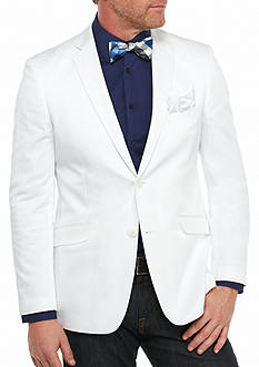 Madison Slim-Fit White Solid Motion Stretch Sport Coat