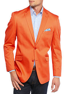 Madison Big & Tall Orange Solid Motion Stretch Sport Coat