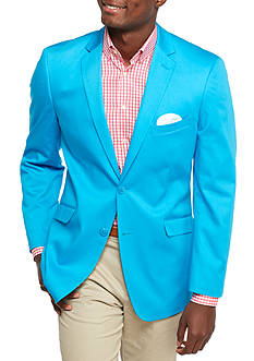 Madison Big & Tall Turquoise Solid Motion Stretch Sport Coat