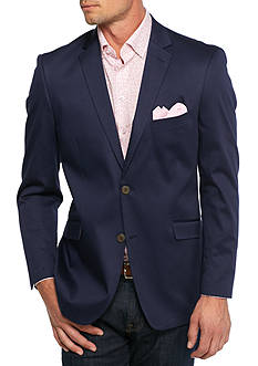 Madison Big & Tall Navy Solid Motion Stretch Sport Coat