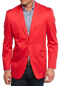 Madison Big & Tall Red Solid Motion Stretch Sport Coat