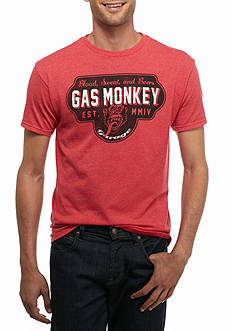 BioWorld Gas Monkey Garage Blood Sweat And Beers Graphic Tee