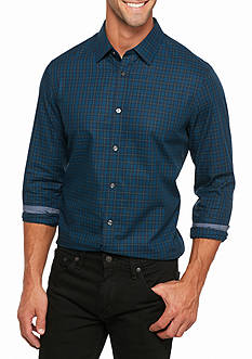 Michael Kors Tailored-Fit Plaid Cotton Shirt