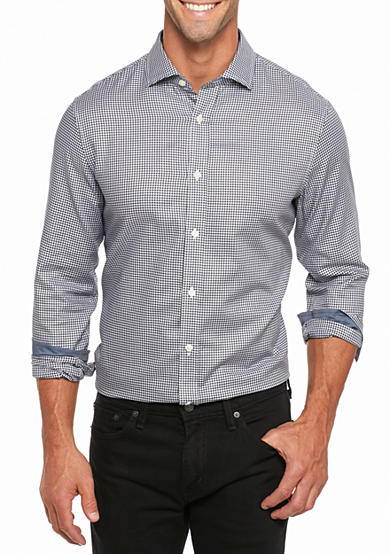 Michael Kors Tailored-Fit Check Cotton Shirt