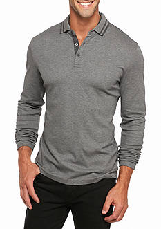 Michael Kors Long Sleeve Interlock Polo