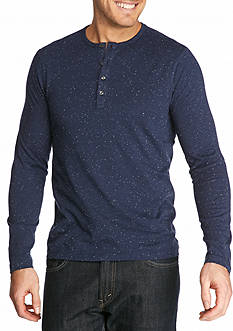 Michael Kors Long Sleeve Jasper Speckled Henley Shirt