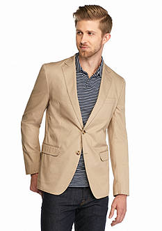Michael Kors Slim Cotton Sateen Blazer