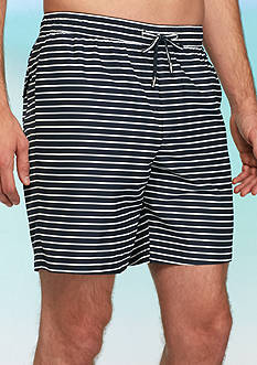 Michael Kors Stripe Swim Trunks