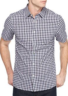 Michael Kors Short Sleeve Tailored Shane Check Woven Shirt