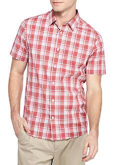 Michael Kors Short Sleeve Tailored Kingsley Plaid Woven Shirt