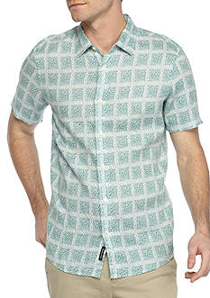 Michael Kors Short Sleeve Paxton Print Button Down Shirt
