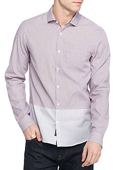 Michael Kors Long Sleeve Slim Fit Royce Stripe Shirt