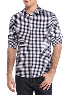 Michael Kors Long Sleeve Roll Sleeve Slim Fit Shane Woven Shirt