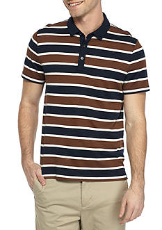 Michael Kors Short Sleeve Towel Stripe Polo Shirt