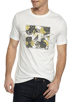 Michael Kors Short Sleeve Floral Print MK Graphic Tee