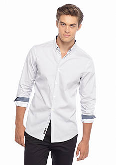 Michael Kors Slim Fit Dot Print Woven Shirt
