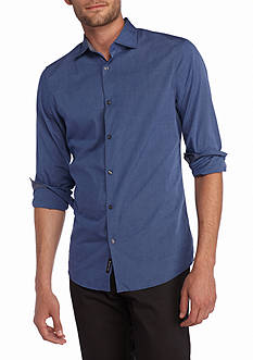 Michael Kors Tailored Fit End On End Woven Shirt