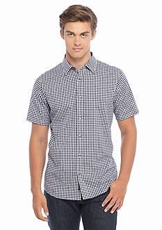 Michael Kors Short Sleeve Tailored Fit Gingham Woven Shirt