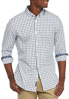 Michael Kors Long Sleeve Tailored Fit Chase Check Shirt