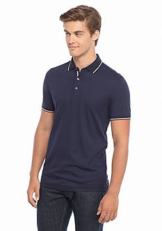 Michael Kors Tipped Ribbon Polo Shirt