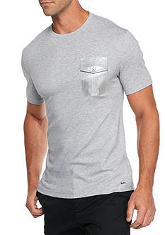 Michael Kors Woven Pocket Liquid Crew Neck T-Shirt