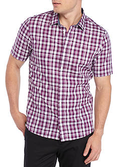 Michael Kors Short Sleeve Slim Liam Check Print Shirt