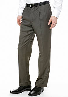Lauren Ralph Lauren Tailored Clothing Classic Fit Ultraflex Sharkskin Suit Separate Pants