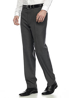 Lauren Ralph Lauren Classic-Fit Windowpane Flat Front Dress Pant