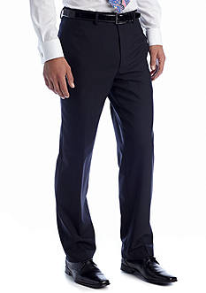 Lauren Ralph Lauren Tailored Clothing Navy Elvan Flat Front Pant