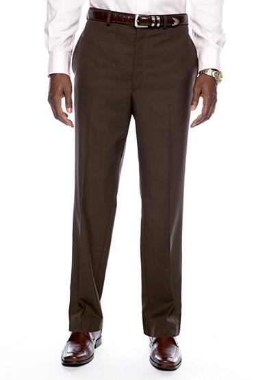 Lauren Ralph Lauren Tailored Clothing Straight Fit Flat Front Dress Pants
