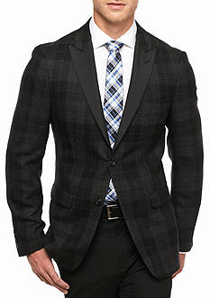 Lauren Ralph Lauren Classic Fit Plaid Tux Wool Sport Coat