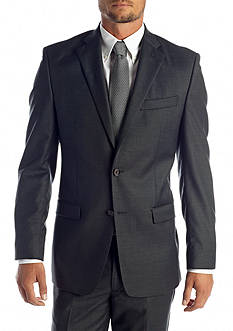 Lauren Ralph Lauren Tailored Clothing Classic Fit Charcoal Suit Separate Coat