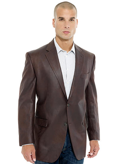 Lauren Ralph Lauren Tailored Clothing Classic Fit Faux Leather Suede Sportcoat