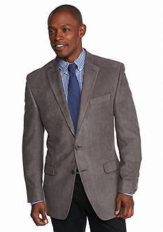 Lauren Ralph Lauren Tailored Clothing Classic Fit Gray Suede Sport Coat