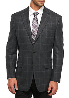 Lauren Ralph Lauren Classic Fit Windowpane Wool Sport Coat