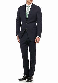 Lauren Ralph Lauren Classic Fit Chalk Stripe 2-Piece Suit
