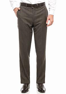 Lauren Ralph Lauren Classic Fit Plaid Flat Front Wool Pant