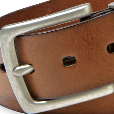 Men: Fossil Accessories: Brown Fossil Jay Leather Jean Belt